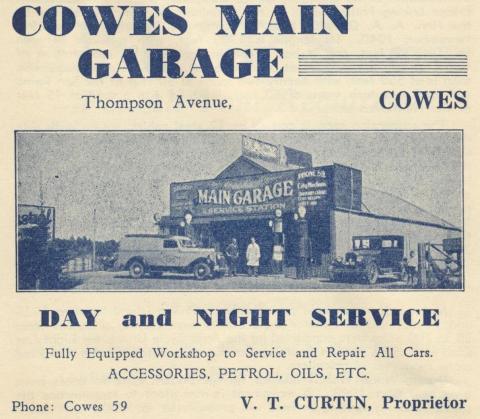 Cowes Garage, 1949