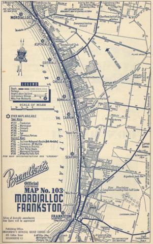 Map Mordialloc to Frankston, 1949
