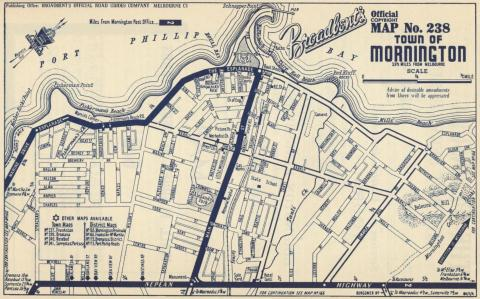 Map Mornington, 1949