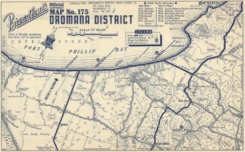 Map Dromana District, 1949
