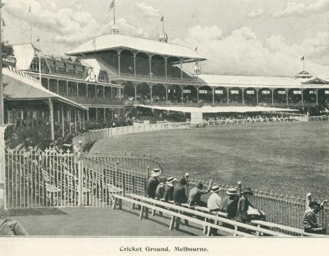 Cricket Ground, Melbourne, 1900