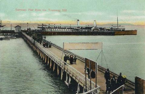 Sorrento Pier from the Tramway Hill, 1905