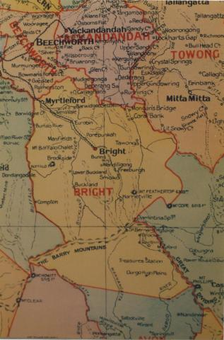 Bright shire map, 1924