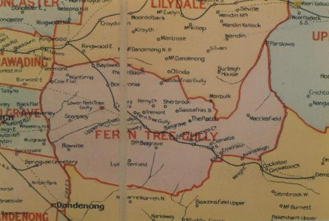 Fern Tree Gully shire map, 1924