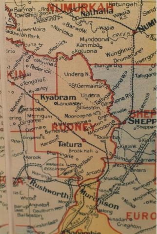 Rodney shire map, 1924