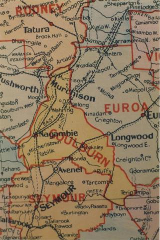 Goulburn shire map, 1924