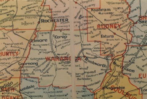 Waranga shire map, 1924