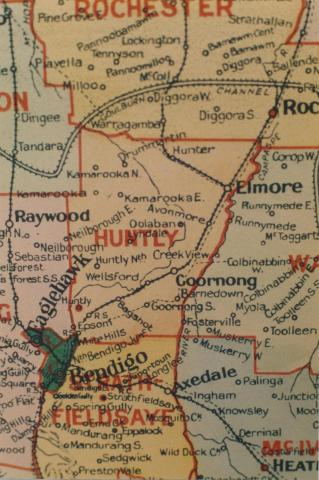Huntly shire map, 1924