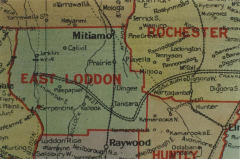 East Loddon shire map, 1924