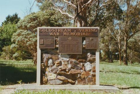 Coldstream Yering War Memorial near Coombe Cottage, 2002