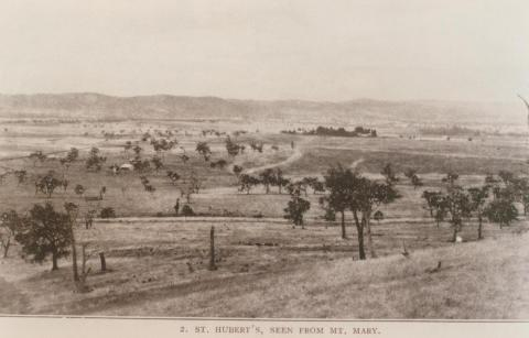 St Hubert's, seen from Mount Mary, Coldstream, 1910