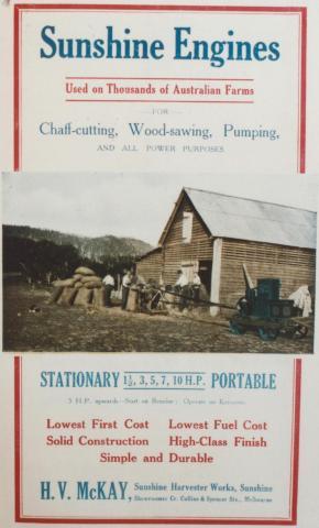 Sunshine Engines, Land Settlement in Victoria, 1920