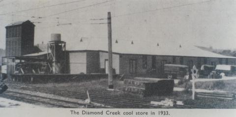 Diamond Creek cool store in 1933, 1964