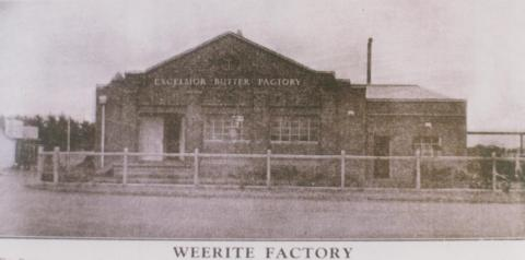 Excelsior butter factory, Weerite, 1934