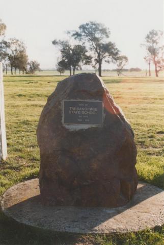 Plaque marking site of Tarranginnie State School, 2010