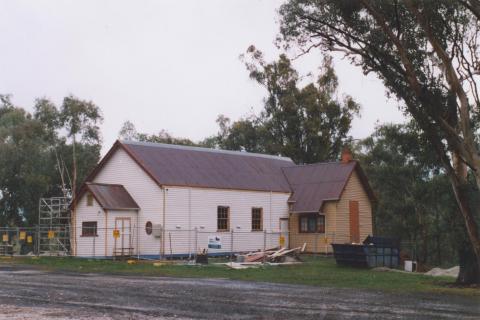 Hall under reconstruction, Osbornes Flat, 2010