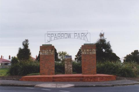 Sparrow Park, Geelong West, 2011