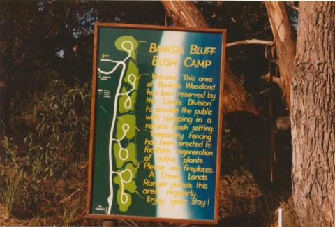 Banksia Bluff Bush Camp, Cape Conran, 1980