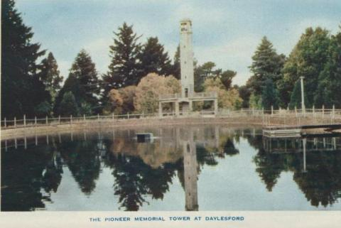 The Pioneer Memorial Tower at Daylesford, 1957