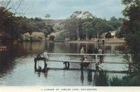 A corner of Jubilee Lake, Daylesford, 1957