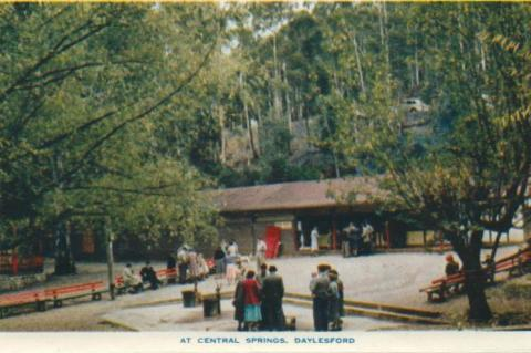 At Central Springs, Daylesford, 1957