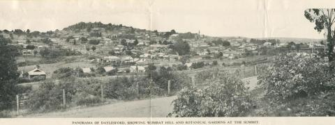 Panorama of Daylesford, showing Wombat Hill and Botanic Gardens at the Summit
