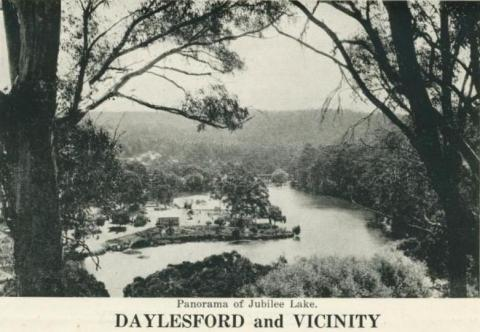 Panorama of Jubilee Lake, Daylesford