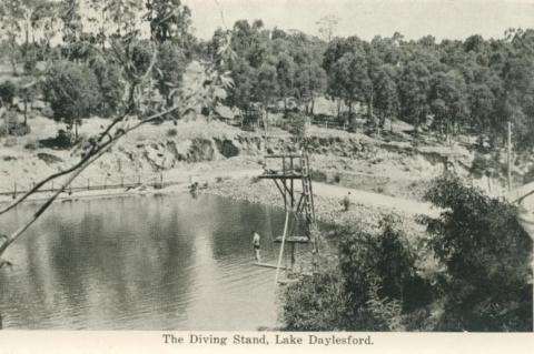 The diving stand, Lake Daylesford