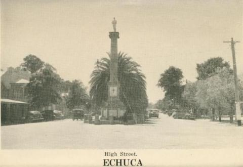 High Street, Echuca, 1955