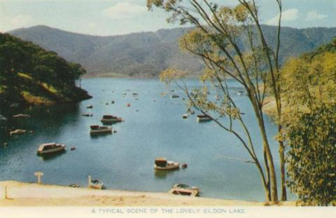 A typical scene of the lovely Eildon Lake