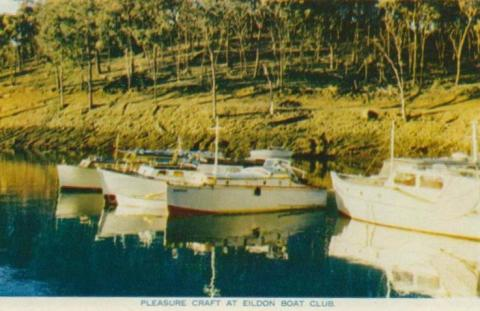 Pleasure craft at Eildon Boat Club