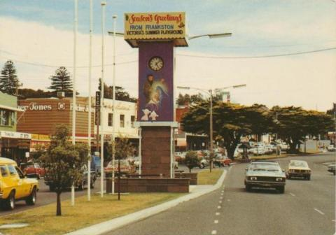 Nepean Highway as it passes through the main shopping centre of Frankston
