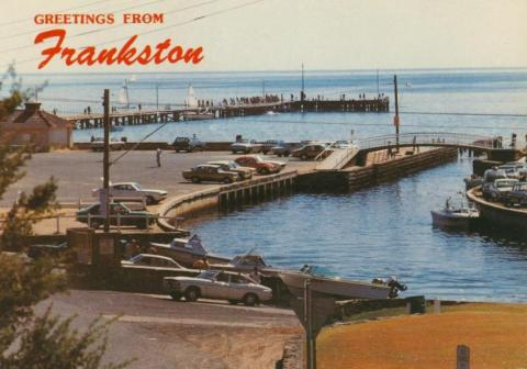 Kananook Creek as it enters Port Phillip Bay, Frankston