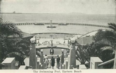 The Swimming Pool, Eastern Beach, Geelong, 1948