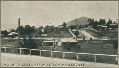 Mount Riddell - from Station, Healesville