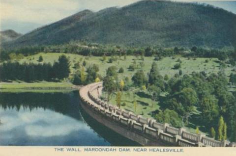 The wall, Maroondah Dam, near Healesville