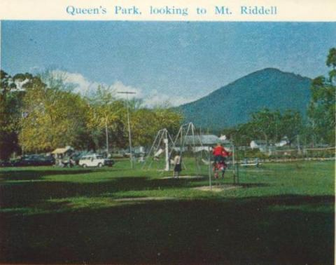 Queen's Park, looking to Mt Riddell, Healesville