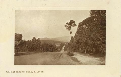 Mt Dandenong Road, Kilsyth, 1911