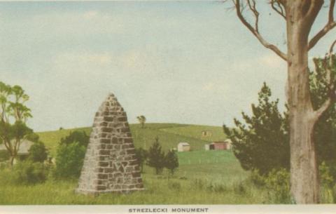 Strezlecki Monument, Korumburra