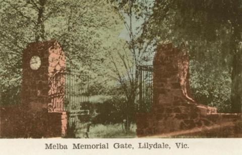 Melba Memorial Gate, Lilydale, 1964