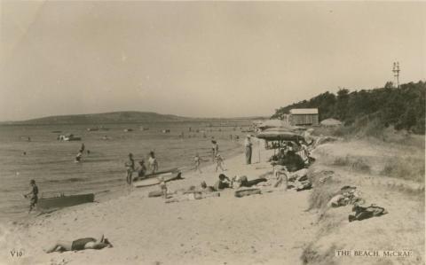 The beach, McCrae