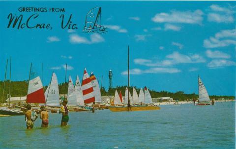 Yachts on the beach, McCrae