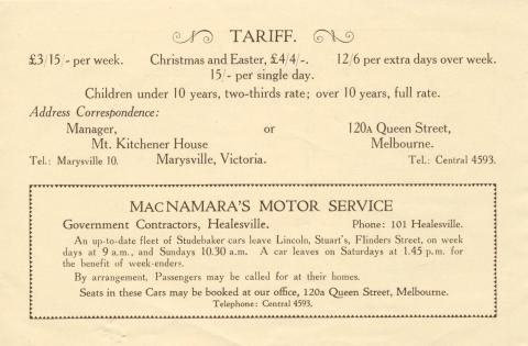 Mount Kitchener House, Marysville, c1925, page 4