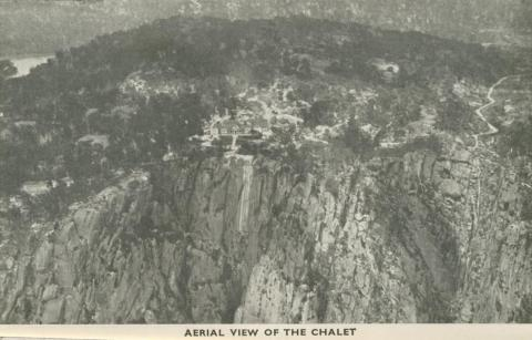 Aerial View of the Chalet, Mount Buffalo, 1953