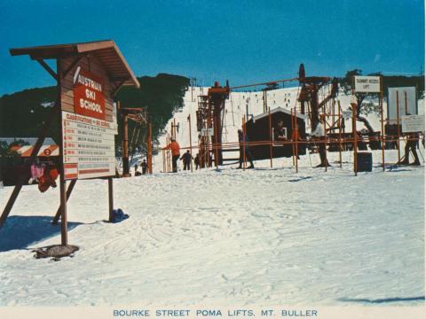 Bourke Street Poma Lifts, Mount Buller, 1974
