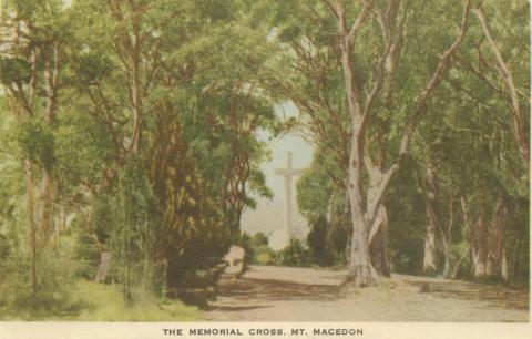 The Memorial Cross, Mount Macedon, 1955