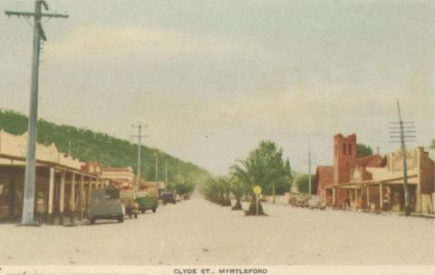 Clyde Street, Myrtleford, 1953