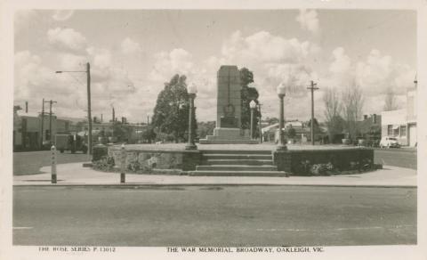 The War Memorial, Broadway, Oakleigh