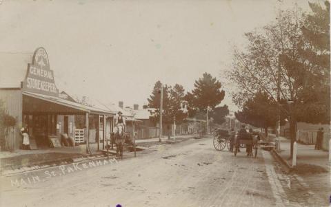 Main Street, Pakenham, 1910