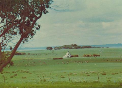 A peaceful farm scene showing Chicory Kiln on Phillip Island